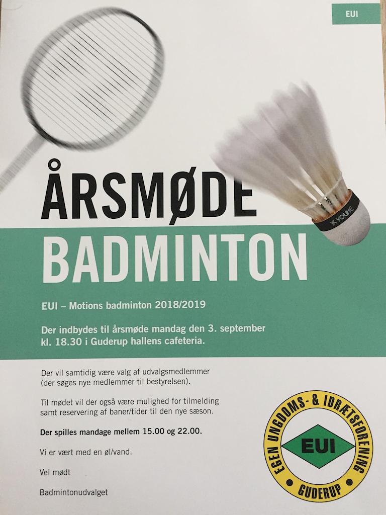 Årsmøde Badminton 2018-19 Billede