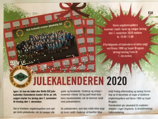 EUI julekalenderen kan købes fra lørdag den 7. november. nyheds billede